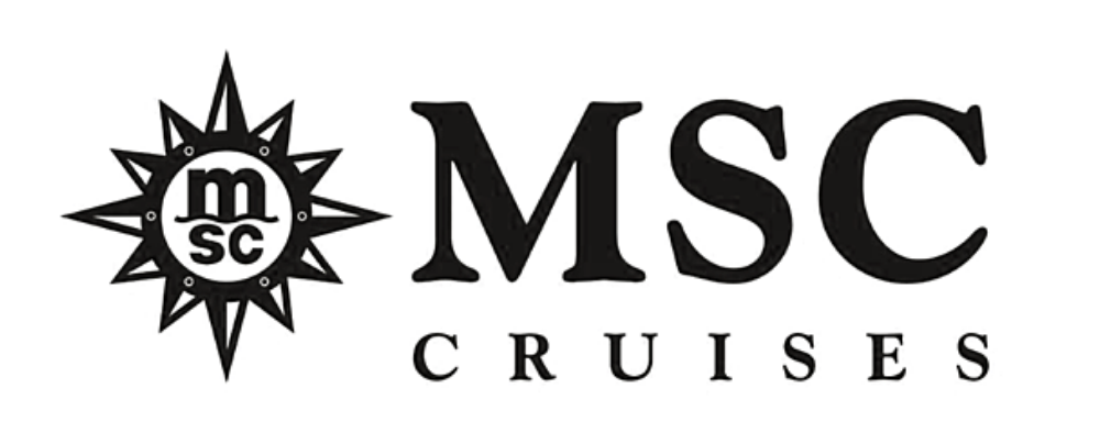 MSC Cruises in black links to the MSC Cruises website