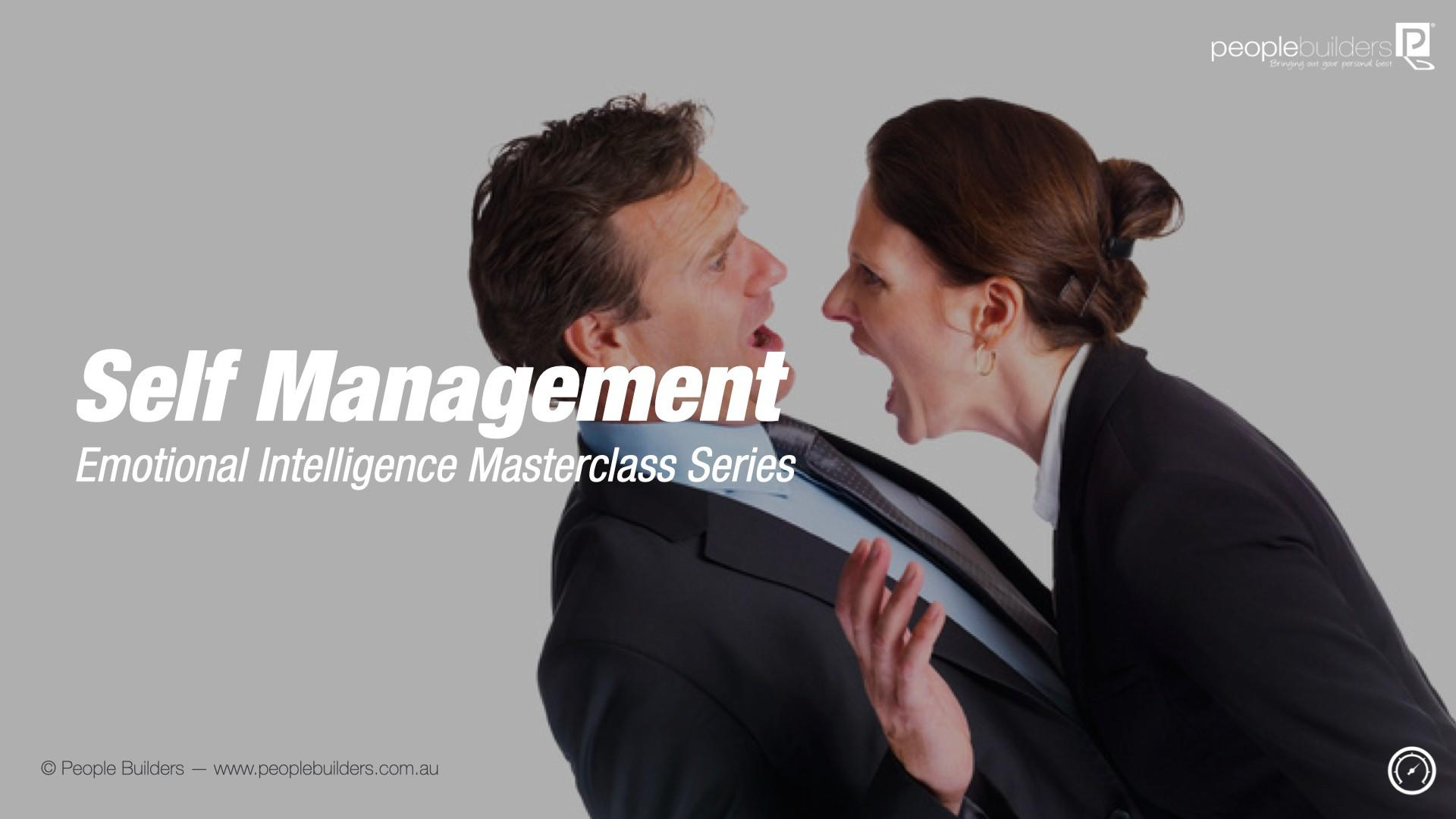Business woman shouting at a colleague because she lacks self management