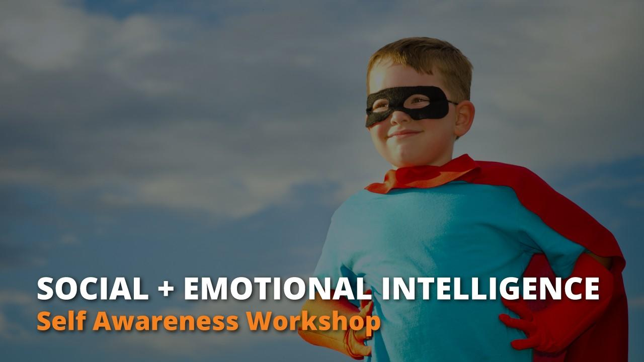 An emotionally intelligent and confident child in a super hero suit.