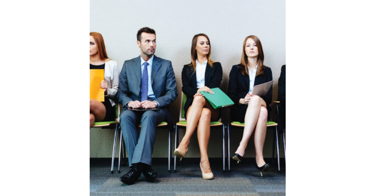 People lining up for an interview. People Builders can help you select the right person through our Staffing and Recruitment support
