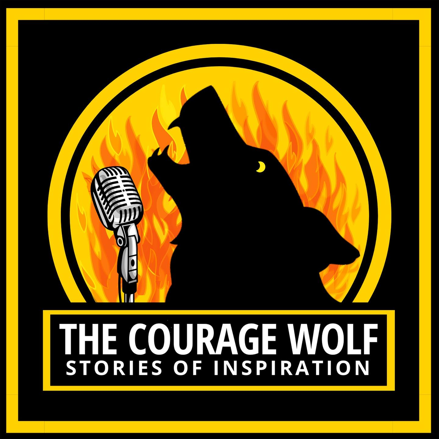 The Courage Wolf Podcast Logo