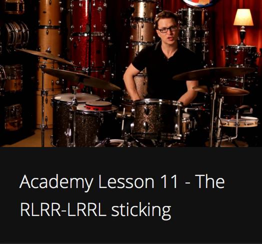 Academy Lesson 11 - The RLRR-LRRL sticking