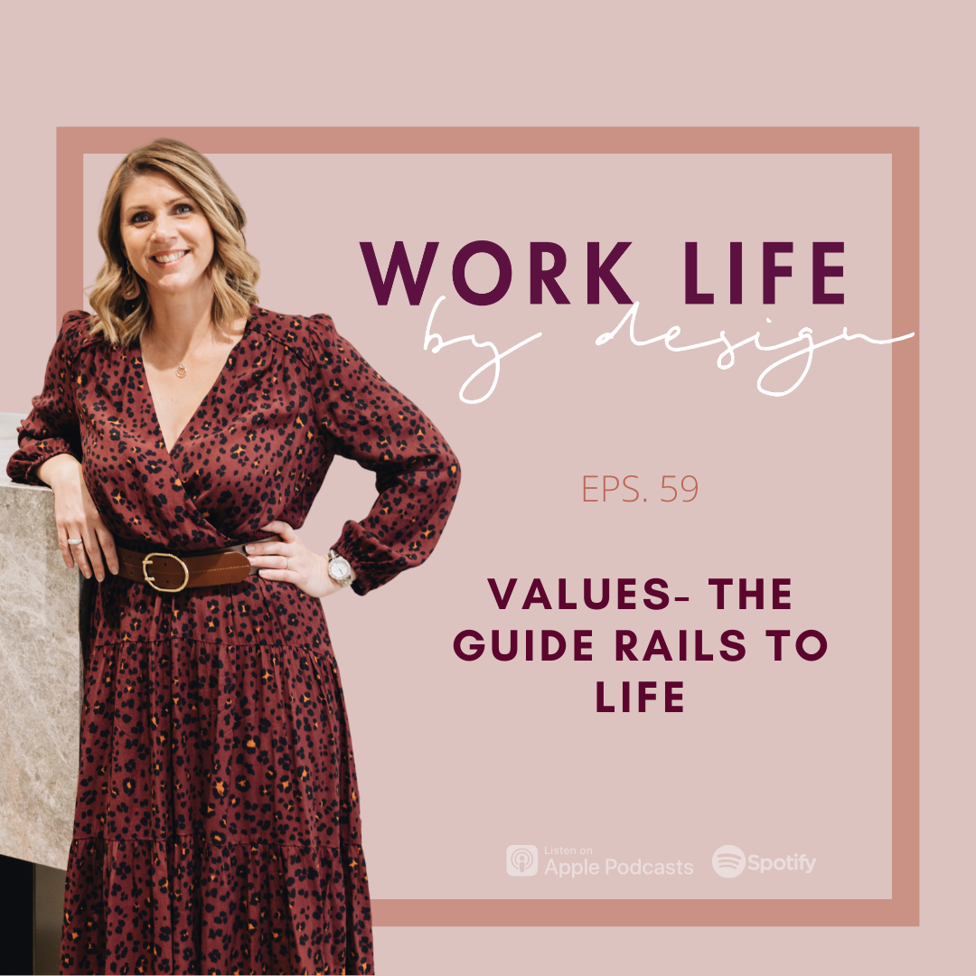 Values – The Guide Rails to Life   Melissa Marsden Work Life By Design Podcast