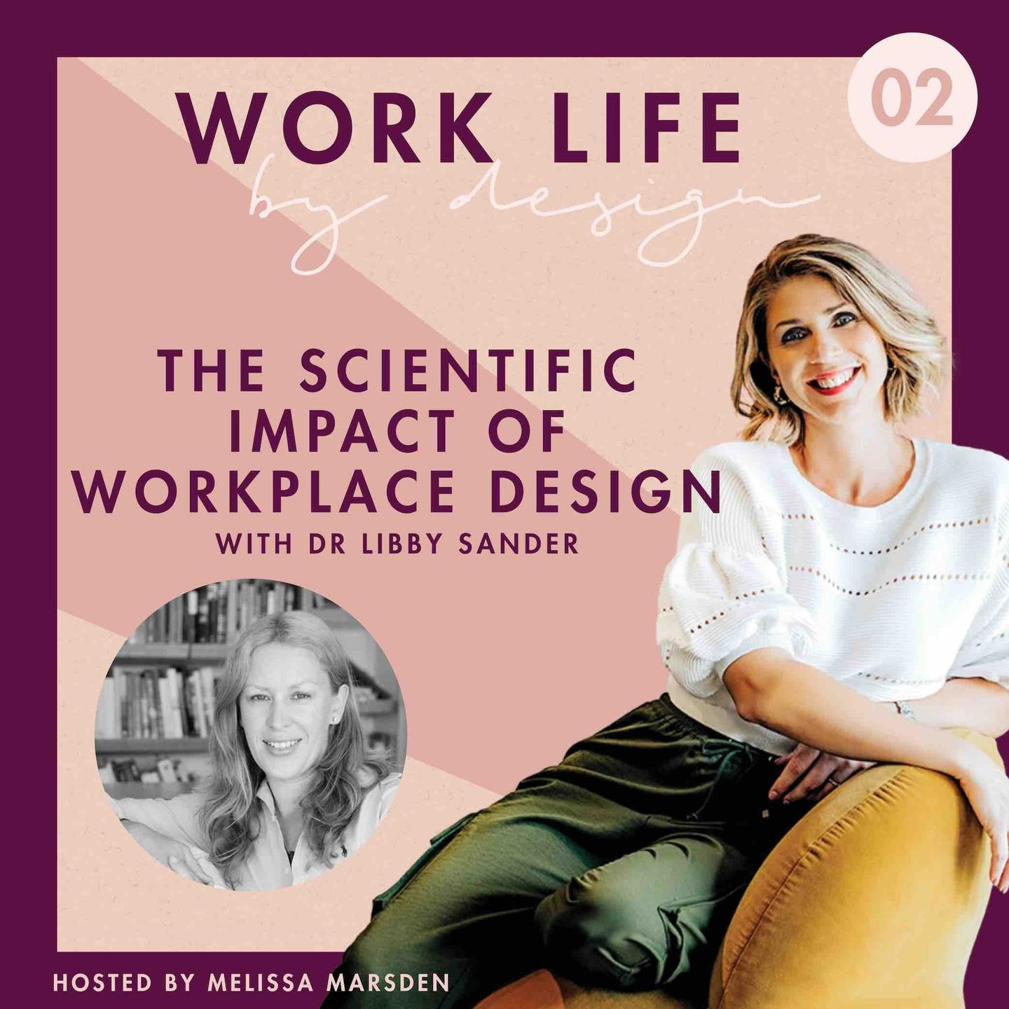 The scientific impact of workplace design with Dr Libby Sander | Work Life By Design Podcast Melissa Marsden