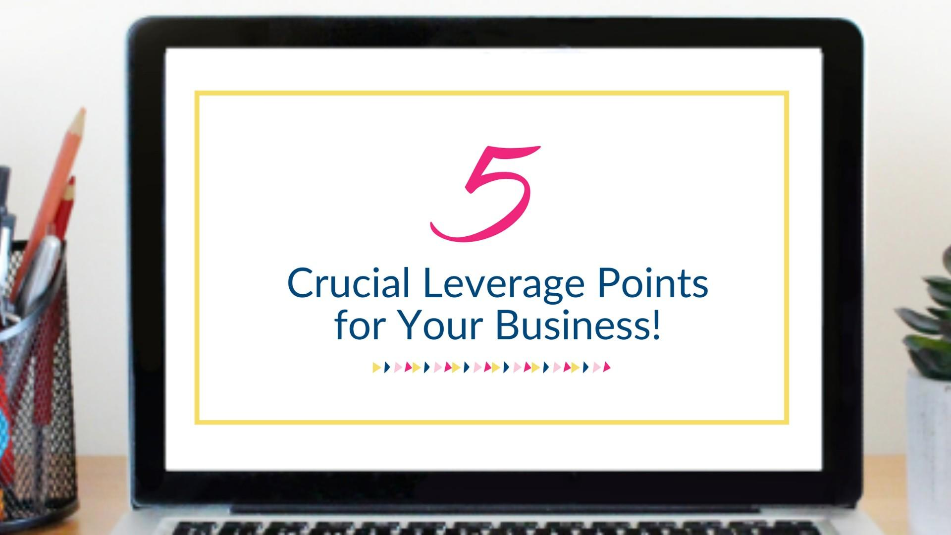 5 Crucial leverage points for your business
