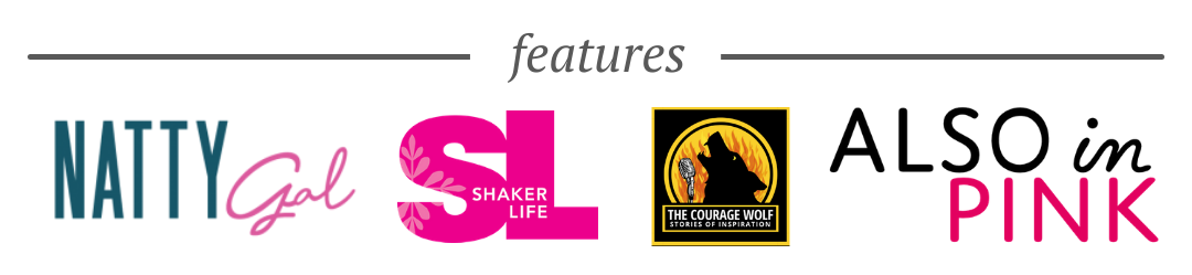 podcast features including The Courage Wolf and Also in Pink