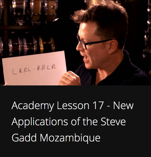 Academy Lesson 17 - New Applications of the Steve Gadd Mozambique