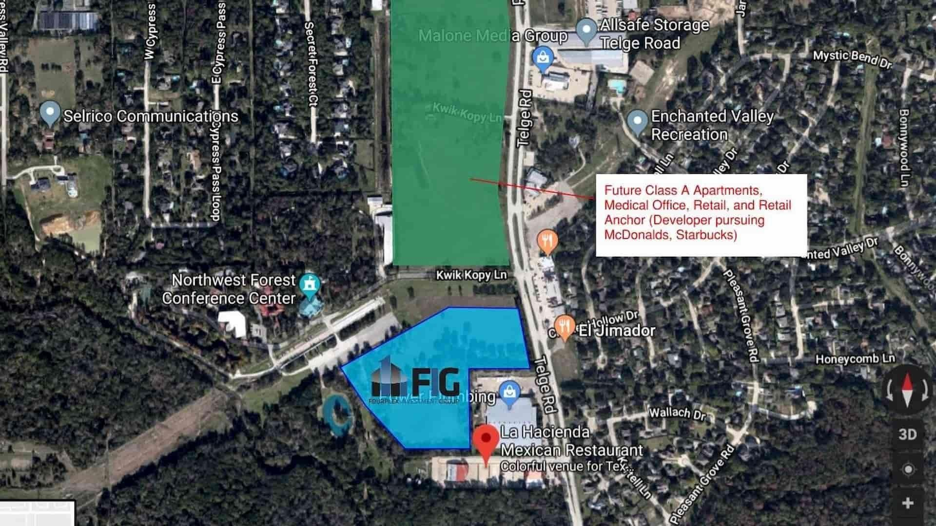 Starwood Farms Area Map, a New Construction Multifamily Investment from the Fourplex Investment Group