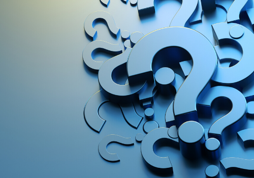 Question Marks standing for uncertainty