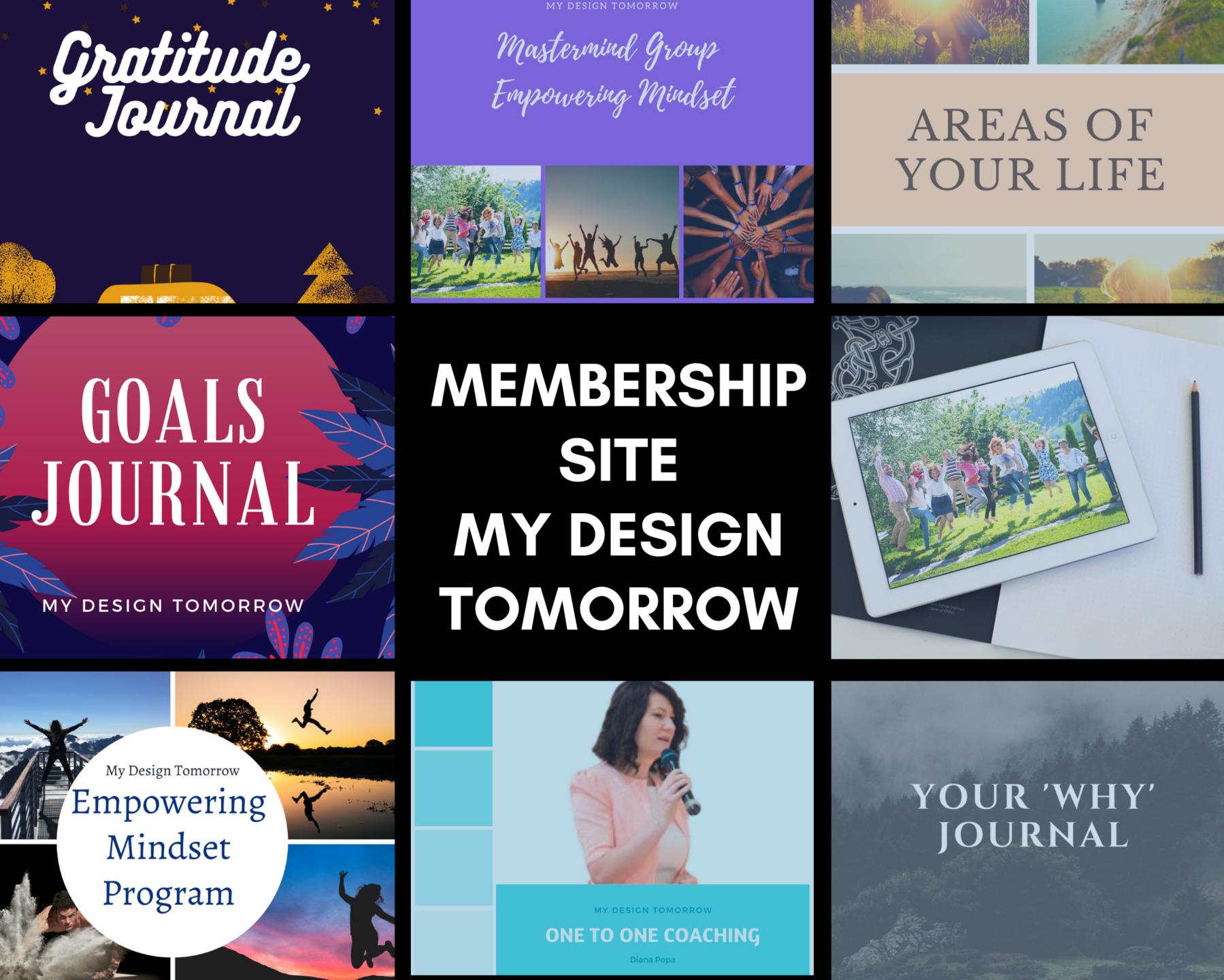 Goals, mindset, success, membership site