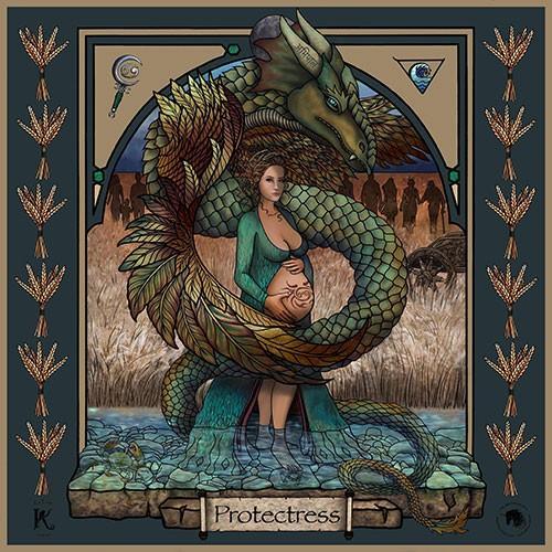 The Protectress Warrioress Artwork
