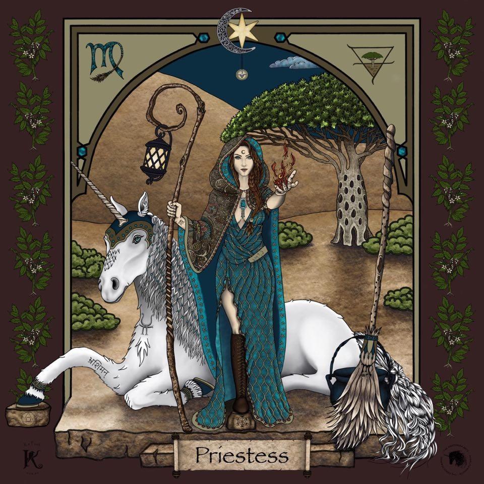 The Priestess Warrioress Artwork