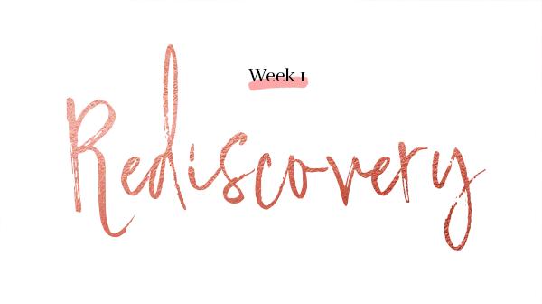 week 1 rediscovery