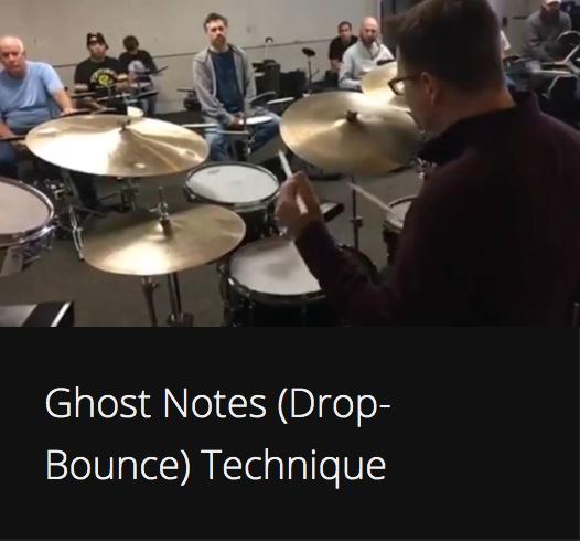 Ghost Notes (Drop-Bounce) Technique