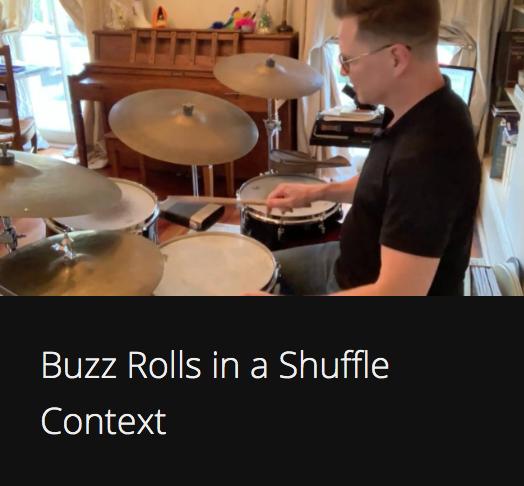 Buzz Rolls in a Shuffle Context