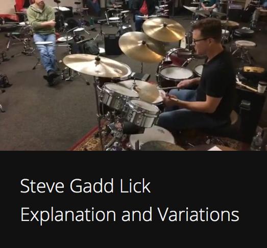 Steve Gadd Lick Explanation Variations