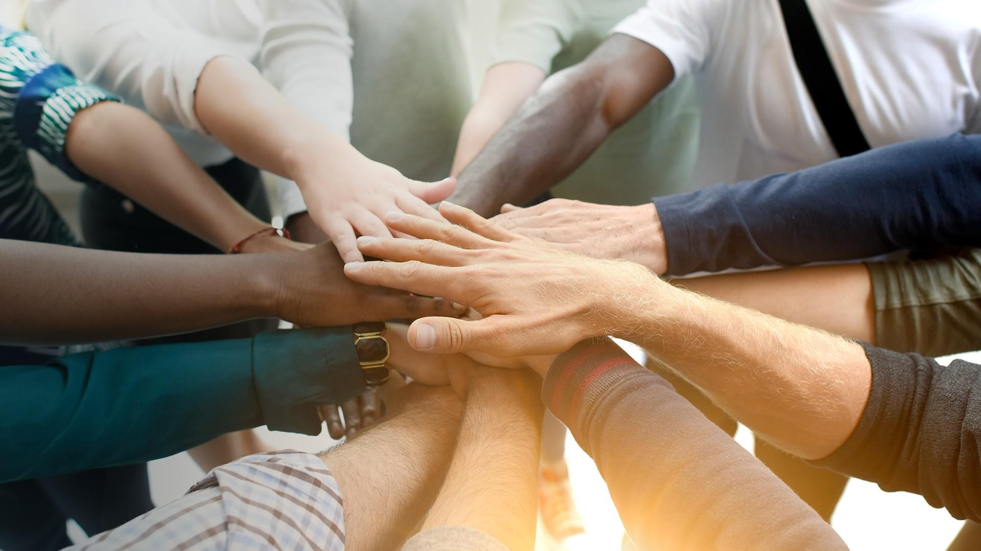 Integrative Team at pureBalance Wellness Cancer Care in Mississauga - team handshake