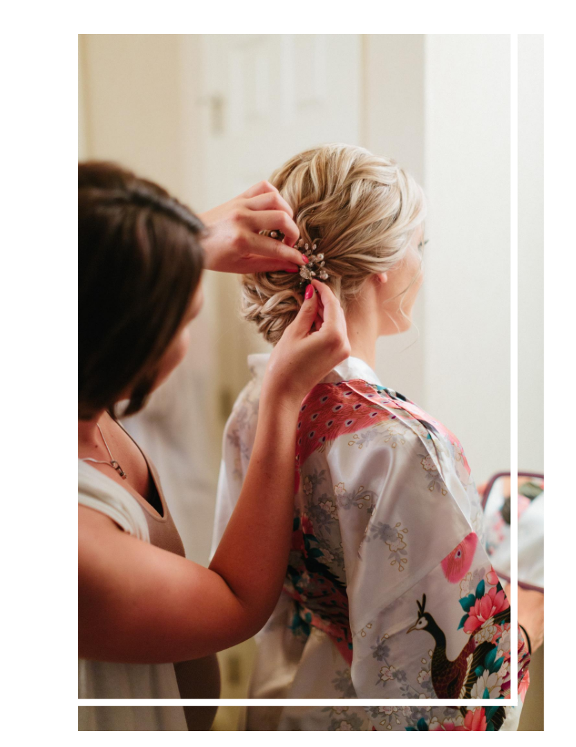 St James Salon bridal updo