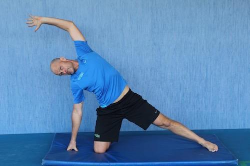 Tennis Yoga Pose - KNEELING EAST-WEST