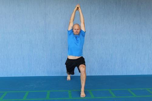 Tennis Yoga Pose - SPLIT POSE