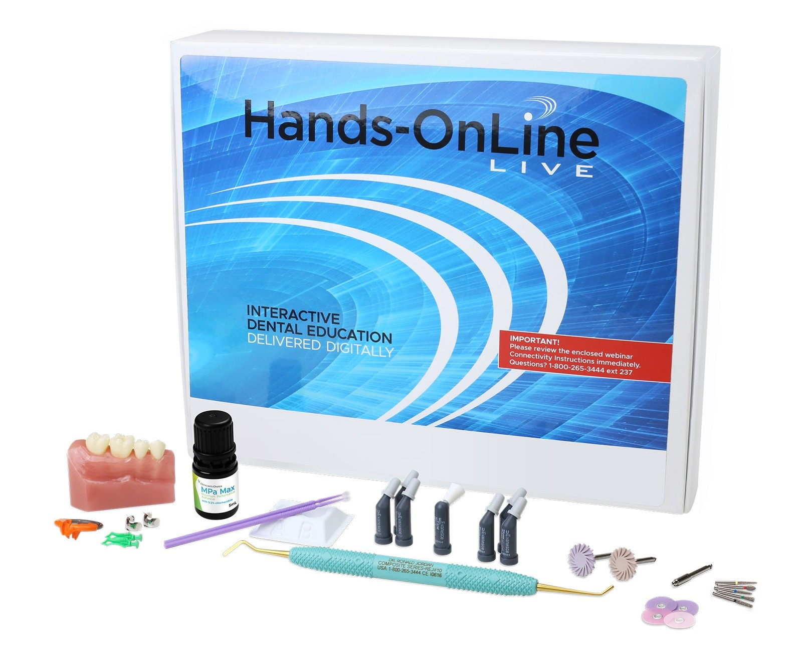 Hands-on technique kit for the Mastering the Class II Restoration with Dr. Marc Geissberger. Included in tuition.