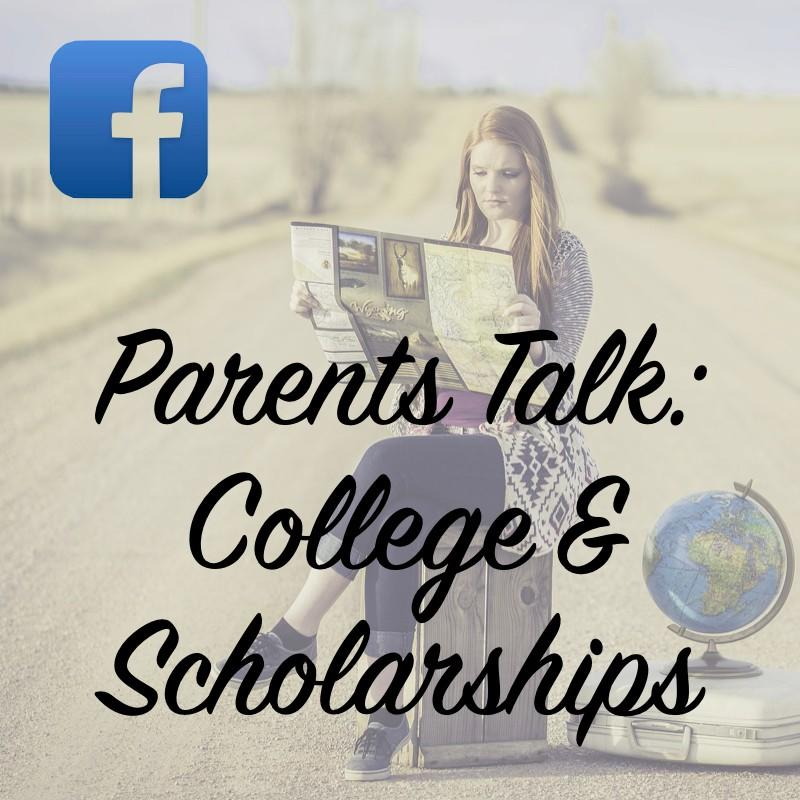 Facebook Group Parents Talk College and Scholarships