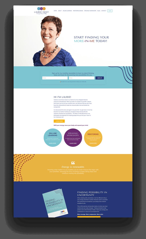 Kajabi website example of life coach example - Laurie Hunt