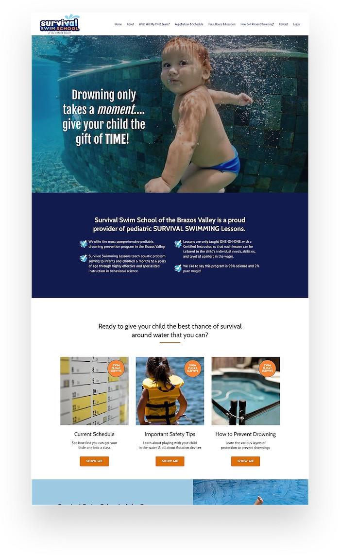 Survival Swim School Kajabi Website