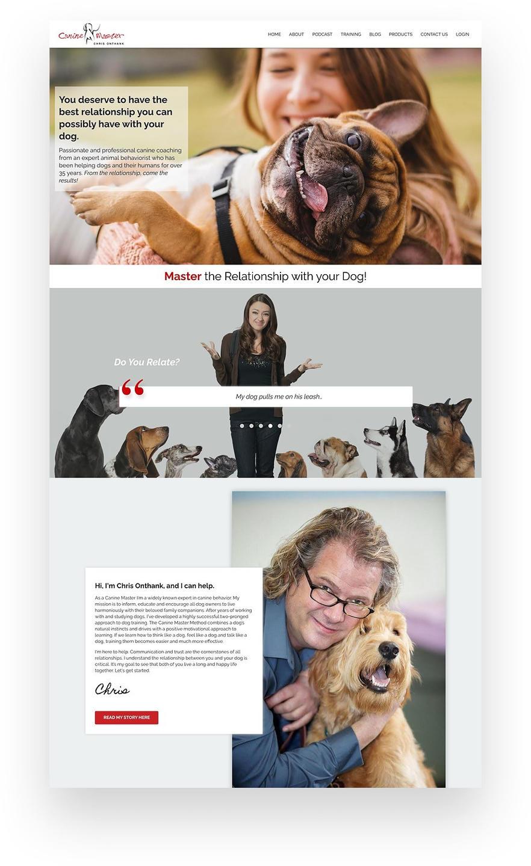 Canine Master - Dog Training Kajabi Website