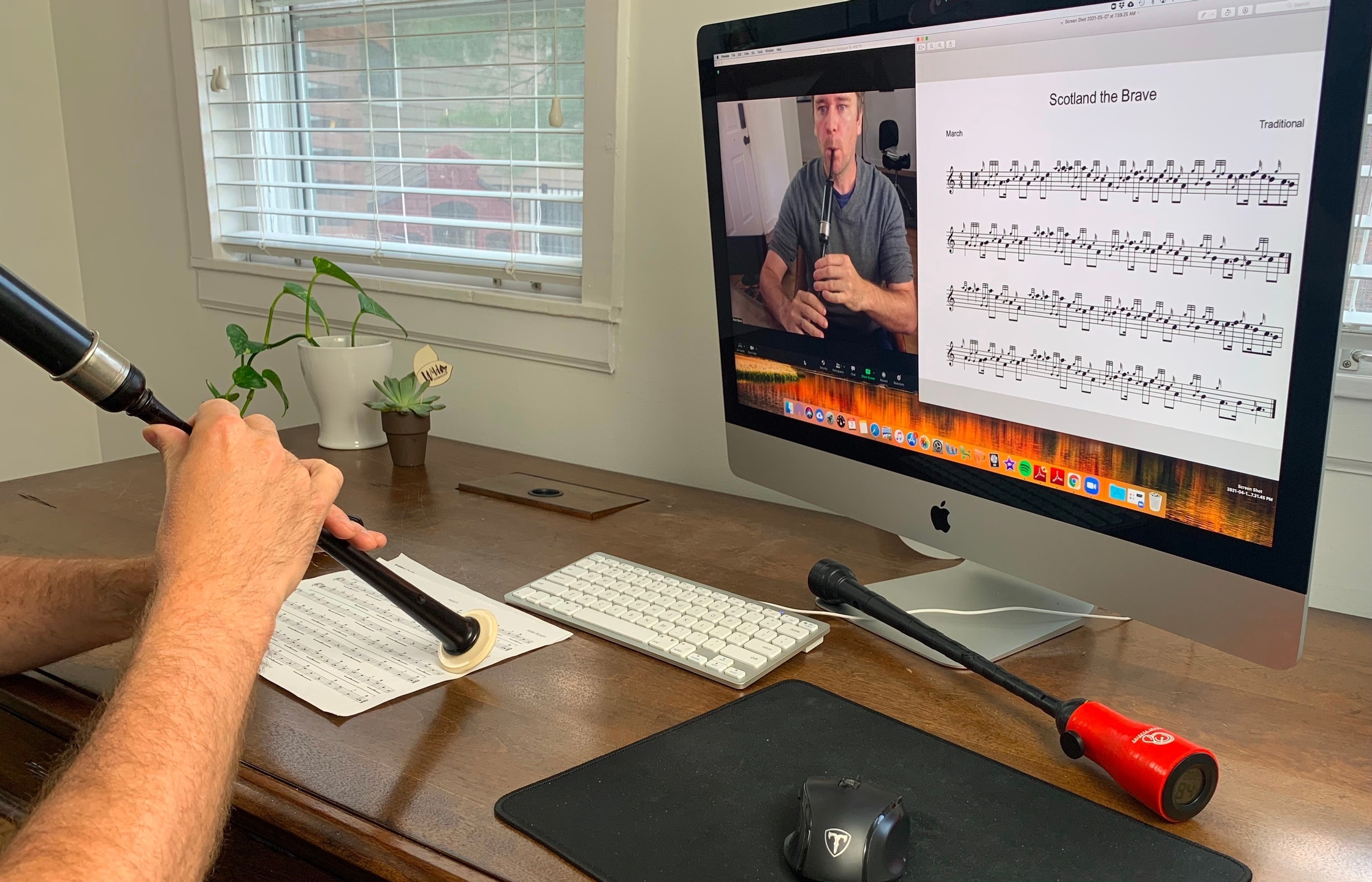 bagpipe lesson zoom online