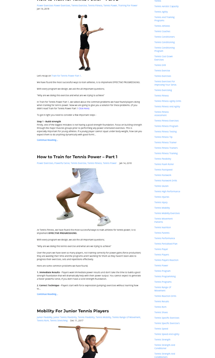 IMAGE OF TENNIS STRENGTH EXERCISES