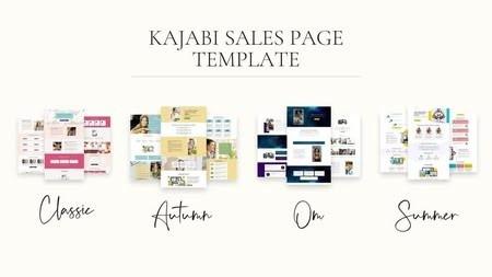 kajabi template & themes sales page