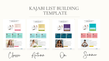 list building template kajabi themes