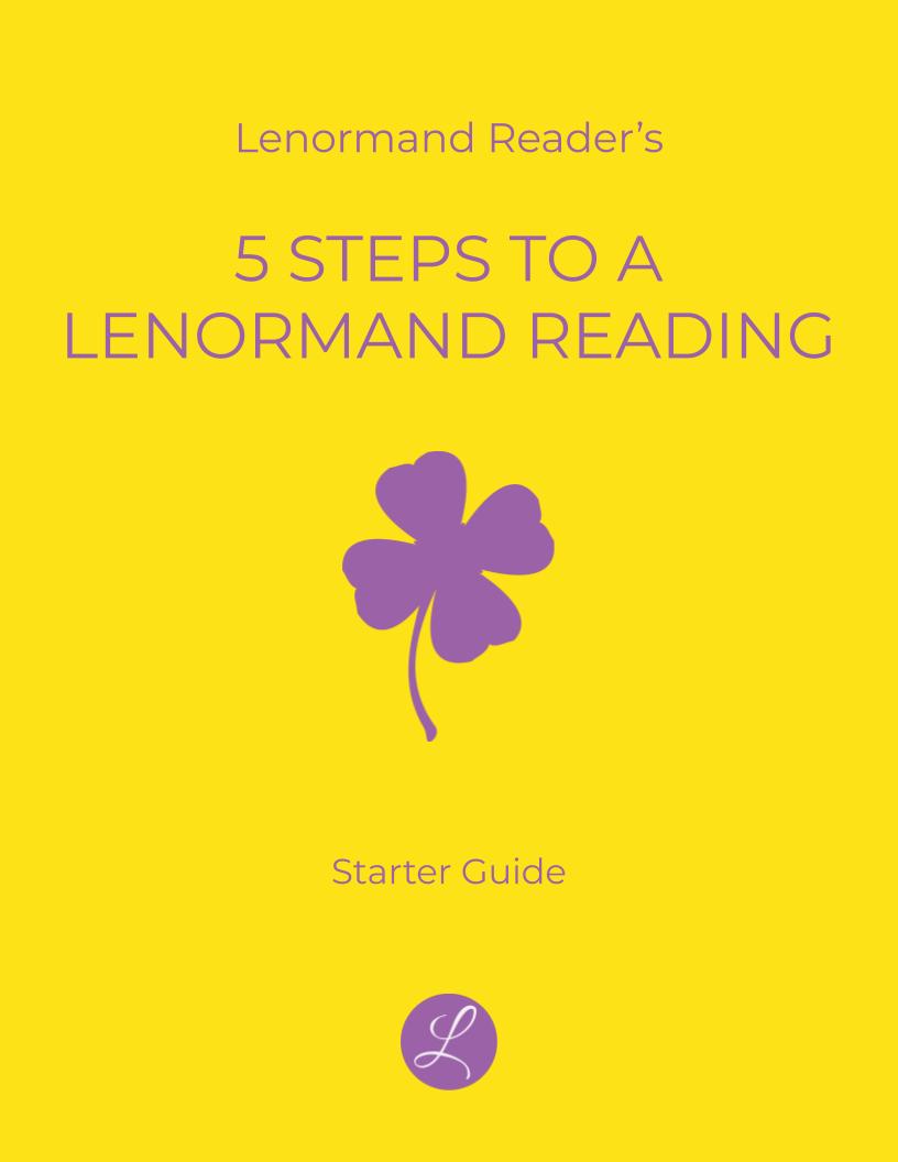 Lenormand Card Keywords