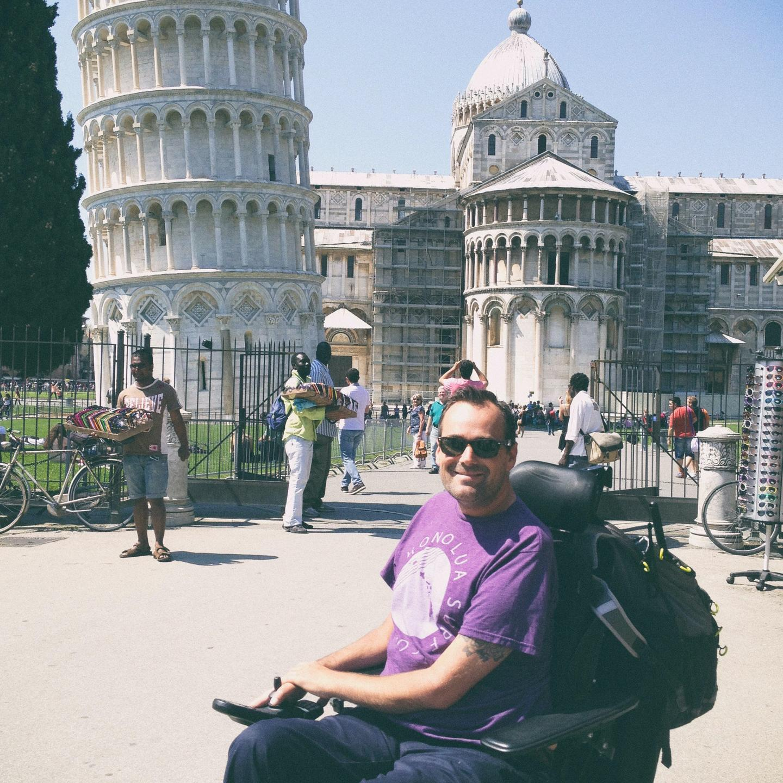 Justin in Pisa, Italy