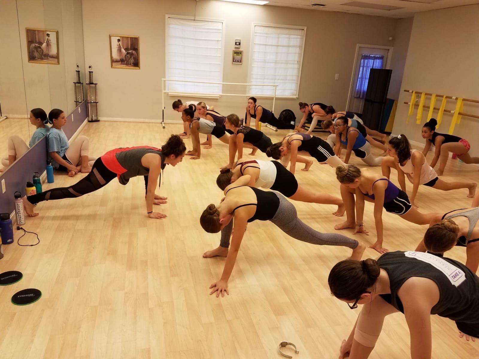 teen fitness class