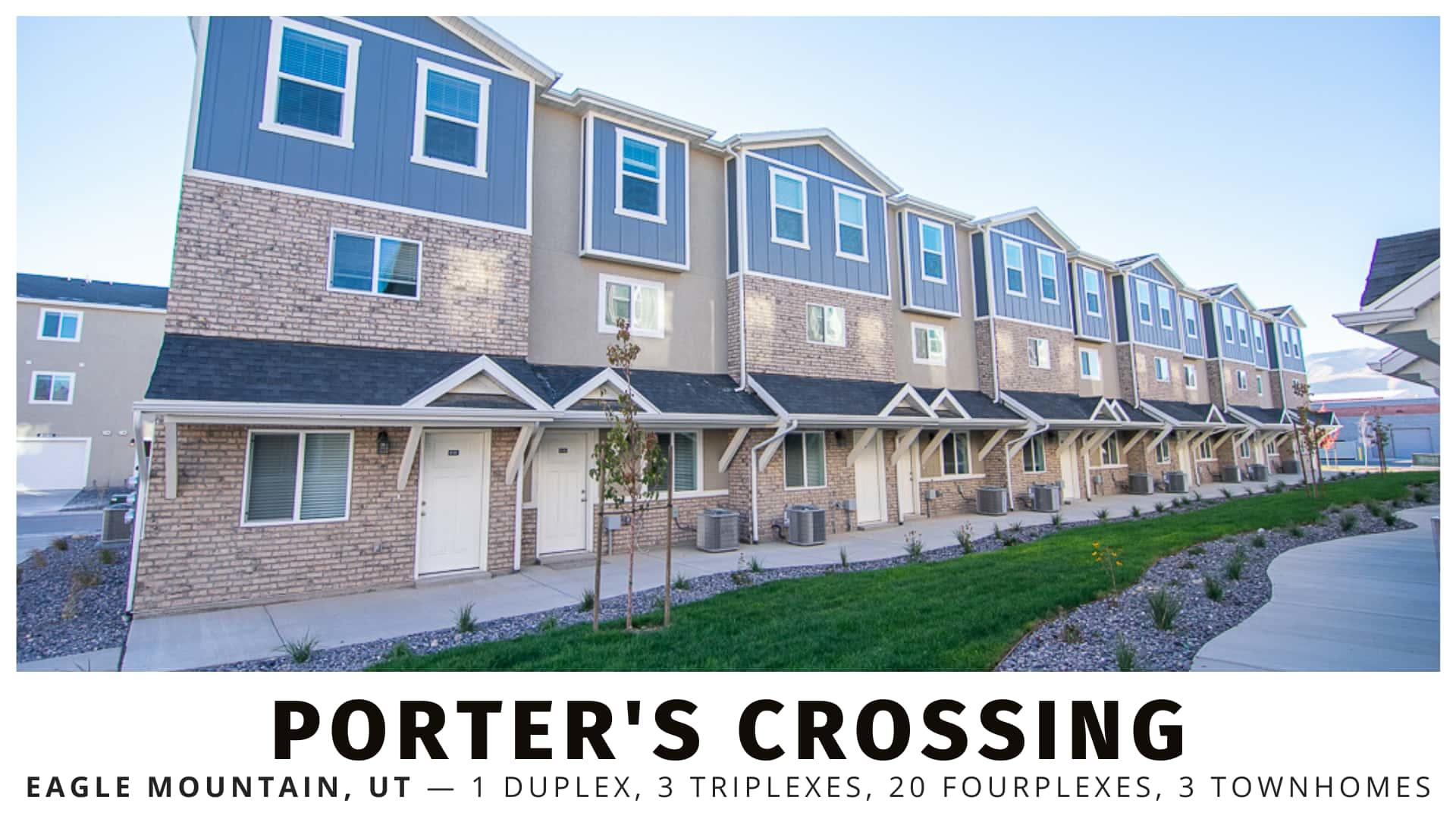 Porter's Crossing Duplex, Triplexes, and Fourplexes in Utah County
