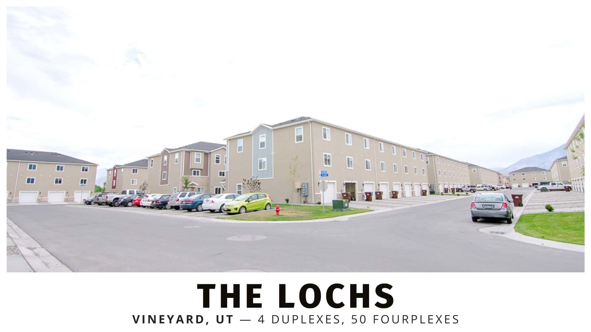 The Lochs Duplexes and Fourplexes in Vineyard, Utah