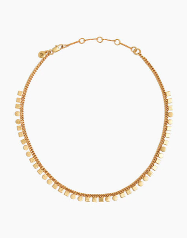madewell Mini Geochain Choker Necklace