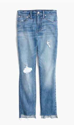 The High-Rise Slim Boyjean in Lita Wash: Step-Hem Edition madewell
