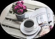 Coffee and magazine