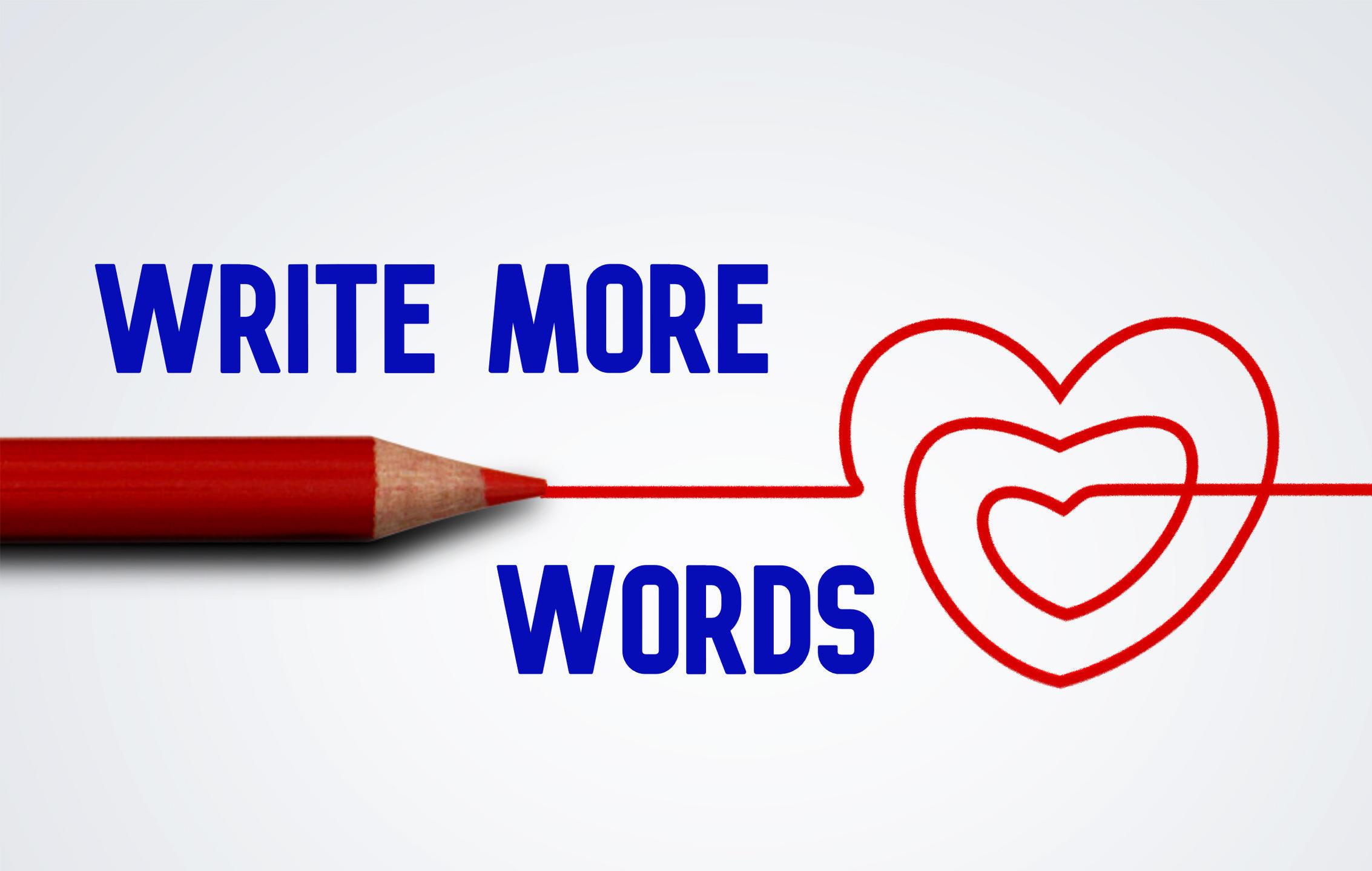 Write More Words heart logo