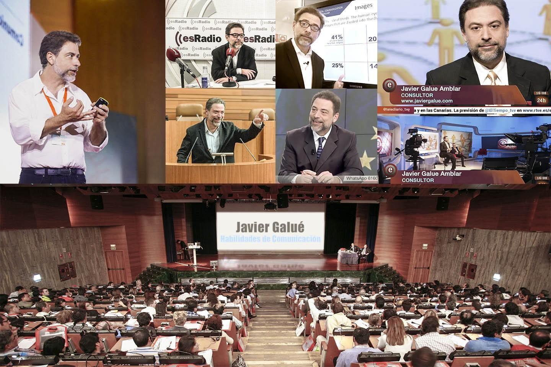 Javier Galué como conferencista