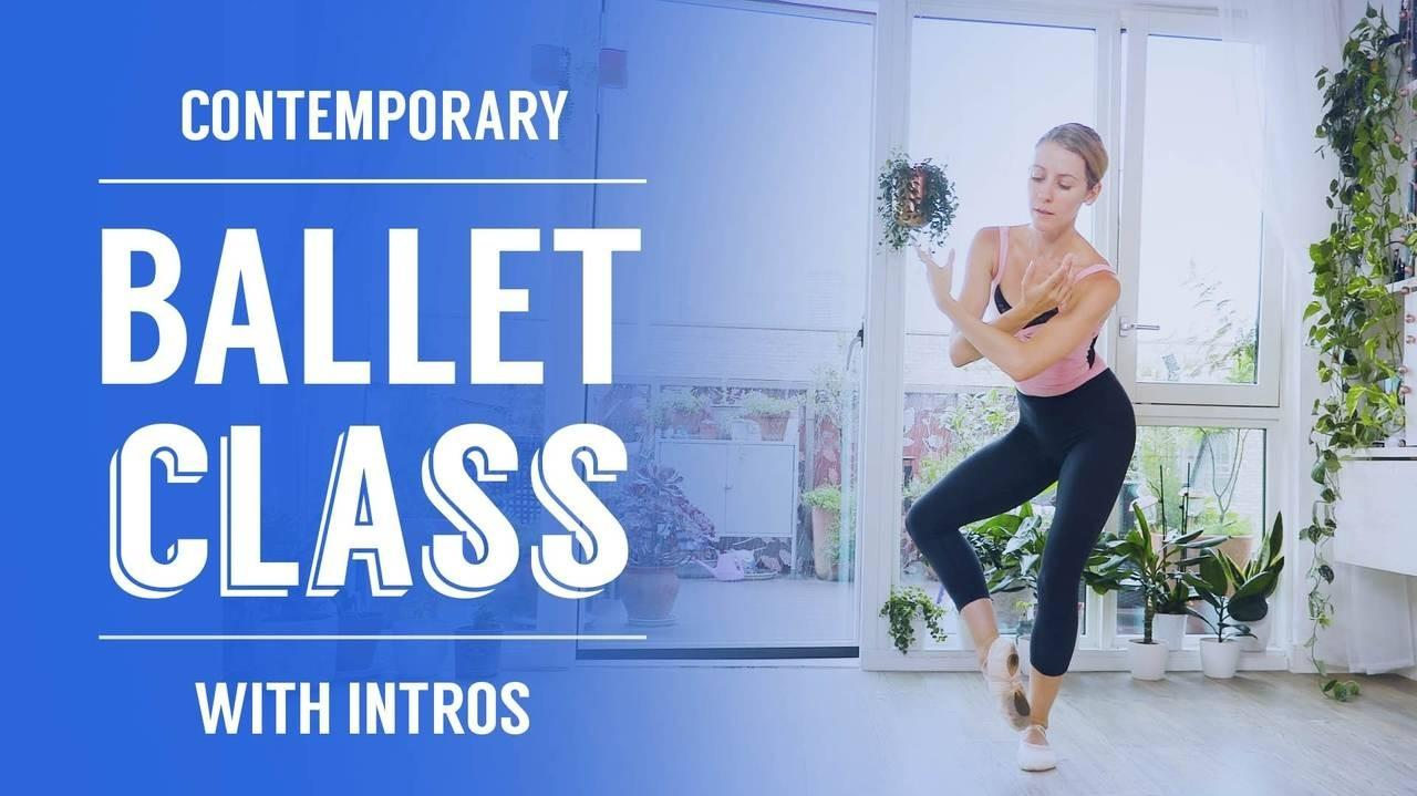 contemporary ballet class with intros