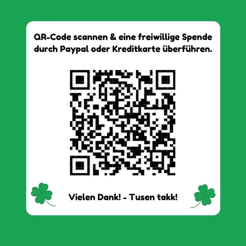 Spenden-QR Code zum Scannen
