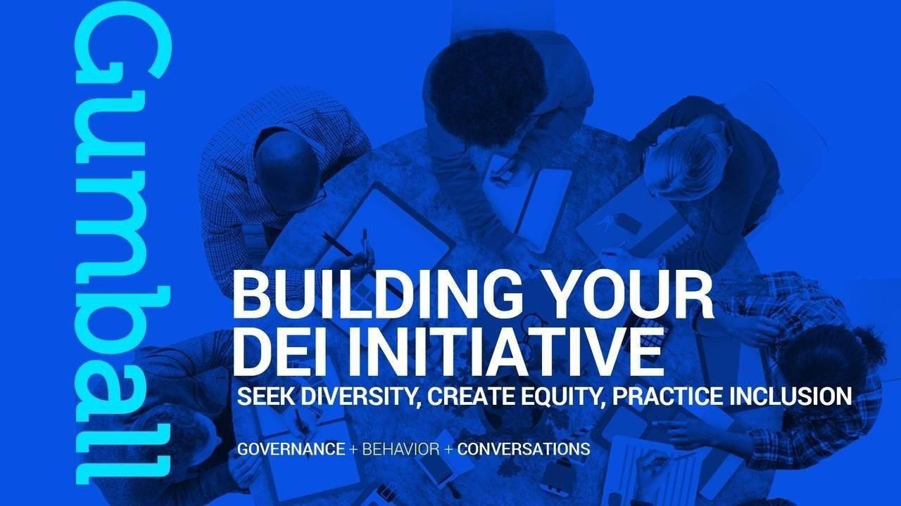 Building DEI Inititiative Round Table Blue