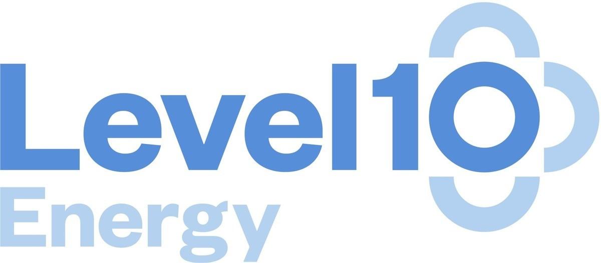 Level10 Energy Logo Blue White