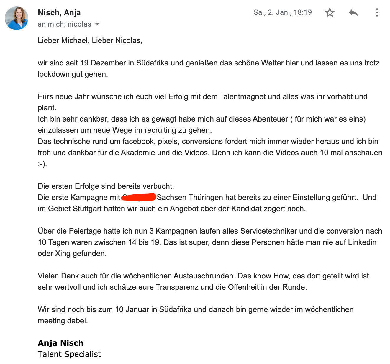 Talentmagnet Performance Recruiting: Fallstudie Anja Nisch