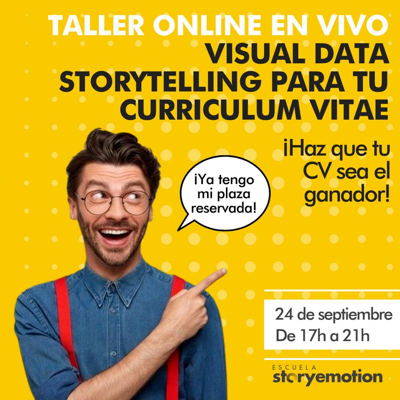 Curso de Visual Data Storytelling para tu CV