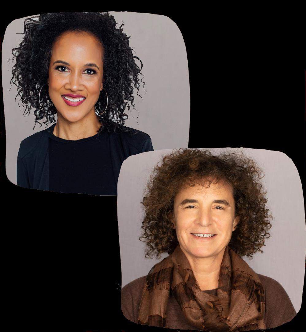Headshots of Itzel Hayward and Kathy Simon